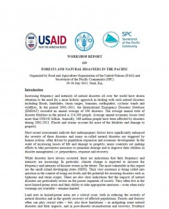 Forests and Natural Disasters  in the Pacific Wshop Report_29 July 2015 SPC_USAID_FAO