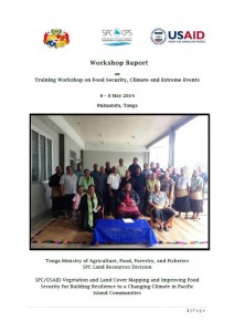 Tonga FSCC Workshop Report