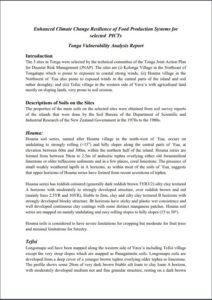 USAID Tonga PRA Report